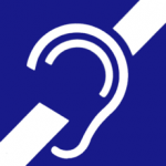 The international symbol of deafness and hearing loss